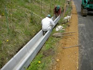 水路の新設工事